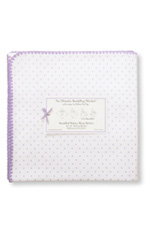 Swaddle Designs Ultimate Receiving Blanket (Lavender Polka Dots) by SwaddleDesigns