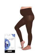 Preggers Fooltess Maternity  Tights (Cocoa) by Preggers Maternity Hosiery
