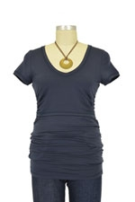 Boob V-Neck Before and After Nursing Top (Ink Blue) by Boob