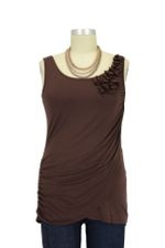 Fleurette Drape Nursing Tunic (Cinnamon Brown) by Mothers en vogue