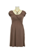 Anna Jane Nursing Dress (Acorn Brown) by Mothers en vogue