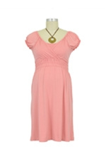Anna Jane Nursing Dress (Cloudy Peach Pink) by Mothers en vogue