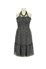 Jules & Jim 2-Ways Polka-Dot Maternity Dress (Black Polka-Dot) by Jules & Jim