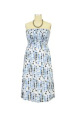 Jules & Jim Nikki Tube Maternity Dress (Blue Dots) by Jules & Jim