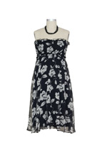 Judy Nursing Dress (Black & White Floral Print) by Larrivo