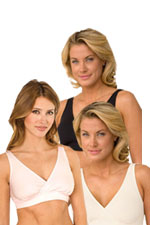 Majamas Organic Easy Bra - 3 Pack (Black, Ivory, & Heavenly Pink) by Majamas