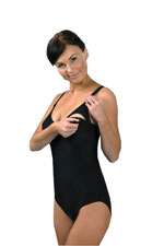 Carriwell One-Piece Nursing Swimsuit (Black) by Carriwell