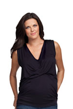 Ingrid & Isabel Front Drape Top (Black) by Ingrid & Isabel