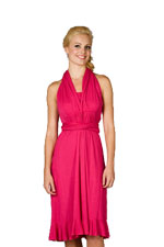Goddess Convertible Nursing Dress (Fuchsia) by Maternalove