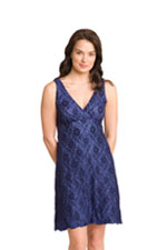 The Lacey Sleepy Dress (Blue Lace) by Majamas