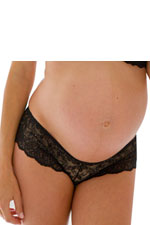 Serena Lace Maternity Boyshort (Black) by Belabumbum