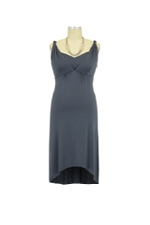 The Venus Nursing Dress (Dark Slate) by Larrivo