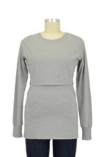 B-Warmer Nursing Top (Grey Melange) by Boob