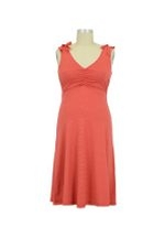 Peek-a-boo French Nursing Dress (Coral Stripes) by Peek-a-boo