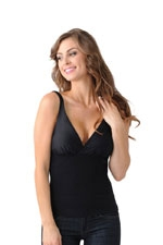 Mother Tucker™ Compression Nursing Tank (Black) by Belly Bandit