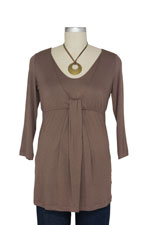 Japanese Weekend D&A Waterfall Nursing Top (Mocha) by Japanese Weekend
