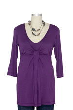 Japanese Weekend D&A Waterfall Nursing Top (Eggplant) by Japanese Weekend