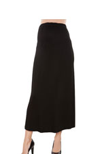 Maternal America Maxi Maternity Skirt (Black) by Maternal America