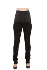 MA Belly Support Skinny Maternity Jeans (Black) by Maternal America