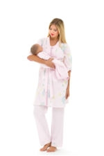 Olian 4-Piece Nursing PJ Set (Pink Print) by Olian