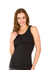 The X-Long Reverse Nursing Cami (Black) by Majamas