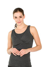 The X-Long Reverse Nursing Cami (Charcoal) by Majamas