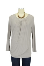 Goddess Drape Nursing Top (Dusky Grey) by Mothers en vogue