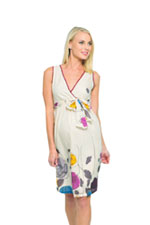 Evie Silk Voile Maternity Dress (Floral Print) by Olian