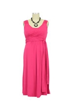 Ivana Tie Bamboo Nursing Dress (Fuchsia) by Annee Matthew