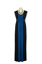 JW D&A Basket Weave Maxi Nursing Dress (Teal) by Japanese Weekend