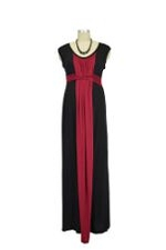 JW D&A Basket Weave Maxi Nursing Dress (Burgundy) by Japanese Weekend