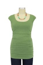 Peek-a-boo Cap Sleeve Nursing Top (Light Apple Green) by Peek-a-boo