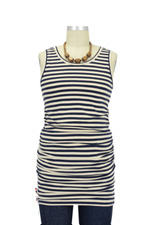 Jolie Maternity Tank Top (Cream & Navy Stripes) by Sono Vaso Lifestyle Maternity