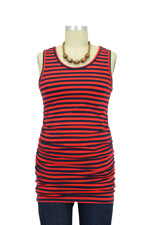 Jolie Maternity Tank Top (Red & Navy Stripes) by Sono Vaso Lifestyle Maternity