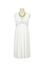Netta Maternity Dress (Ivory) by Sono Vaso Lifestyle Maternity