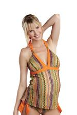 Jenny 2-piece Maternity Tankini (Multi Citrus/Orange) by Maternal America