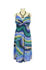 Grecian Maternity Dress (Blue Waves) by Maternal America