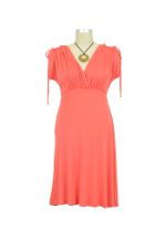 Kimono Laced Sleeve Maternity Dress (Coral) by Maternal America