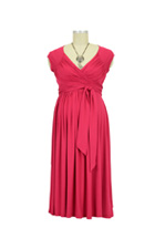 Stella Lycra Maternity Dress (Cranberry) by Olian