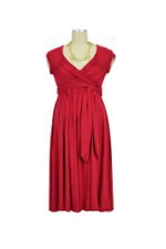 Stella Lycra Maternity Dress (Dark Red) by Olian