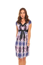 Lia Maternity Dress (Retro Print) by Olian