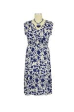 Jaquelin D&A Nursing Dress (Navy Floral) by Japanese Weekend