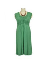 D&A Hugaboo Basket Weave Nursing Dress (Green) by Japanese Weekend