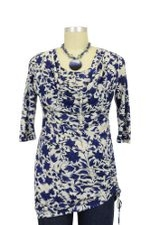 Jaquelin D&A Side Cinch Nursing Top (Navy Floral) by Japanese Weekend