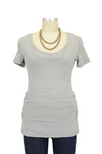 Grace Nursing Tube Tee (Grey Marle) by Ripe Maternity