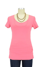 Grace Nursing Tube Tee (Coral) by Ripe Maternity