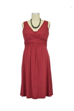 Ava Nursing Wrap Dress (Deep Garnet) by Mothers en vogue