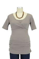 Melissa Side Ruched Nursing Tee (Moonrock) by Mothers en vogue
