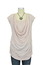 Brianna Soft Drape Nursing Top (Antique Blush) by Mothers en vogue