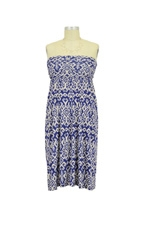 Cassie Maternity Dress (Blue Ikat) by NOM
